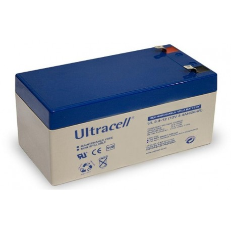 3.4Ah 12V  battery UL series
